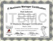 ITBMC certificate