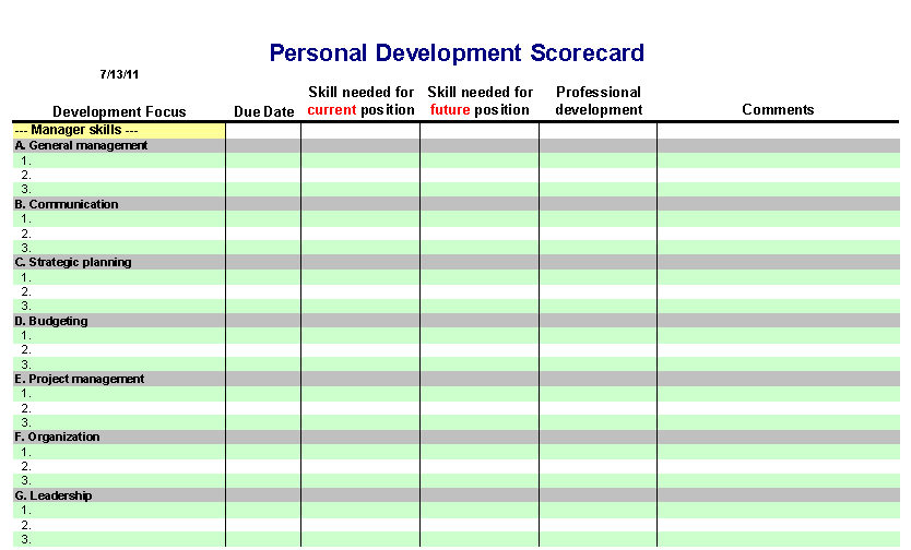 Personal Development Plan  Itlever