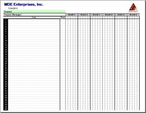 project schedule template 2013