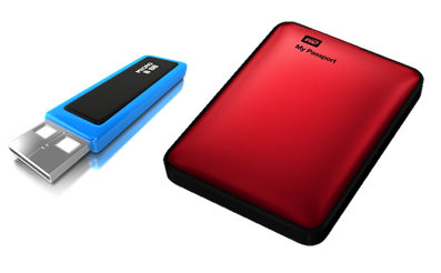 storage_flash drive and backup drives